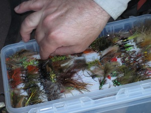 Pat's carp fly box. Or one of them, anyway.